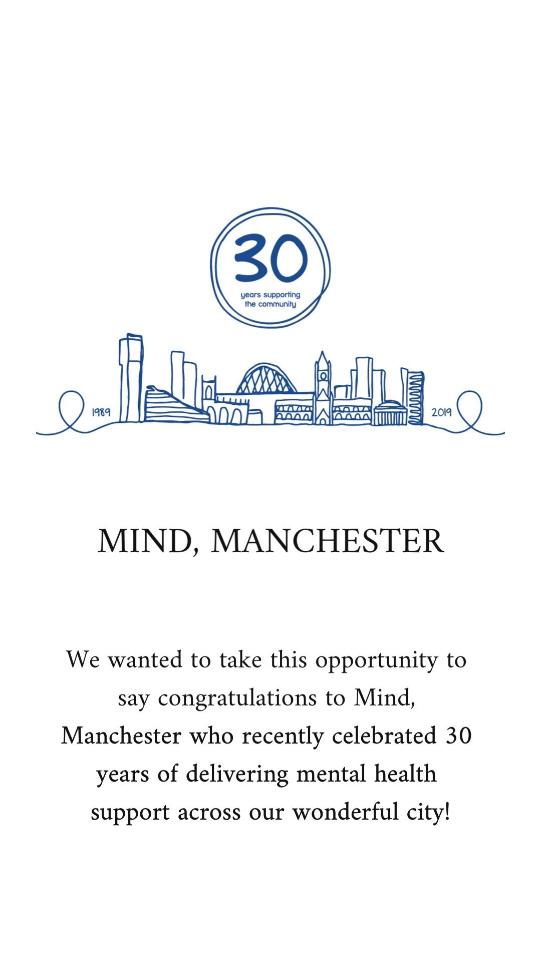 mind manchester 30 years