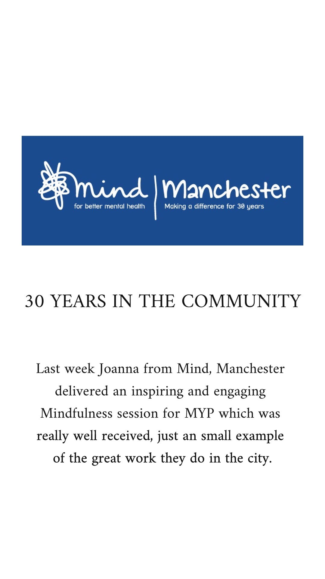 mind manchester session