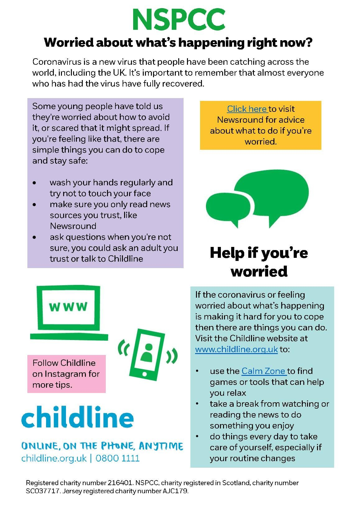 Worried about what s happening advice for children INFOGRAPHIC