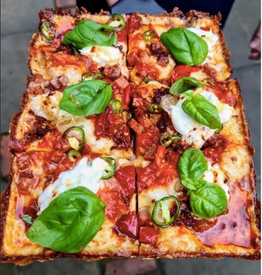 one of Ramona's delicious pizzas