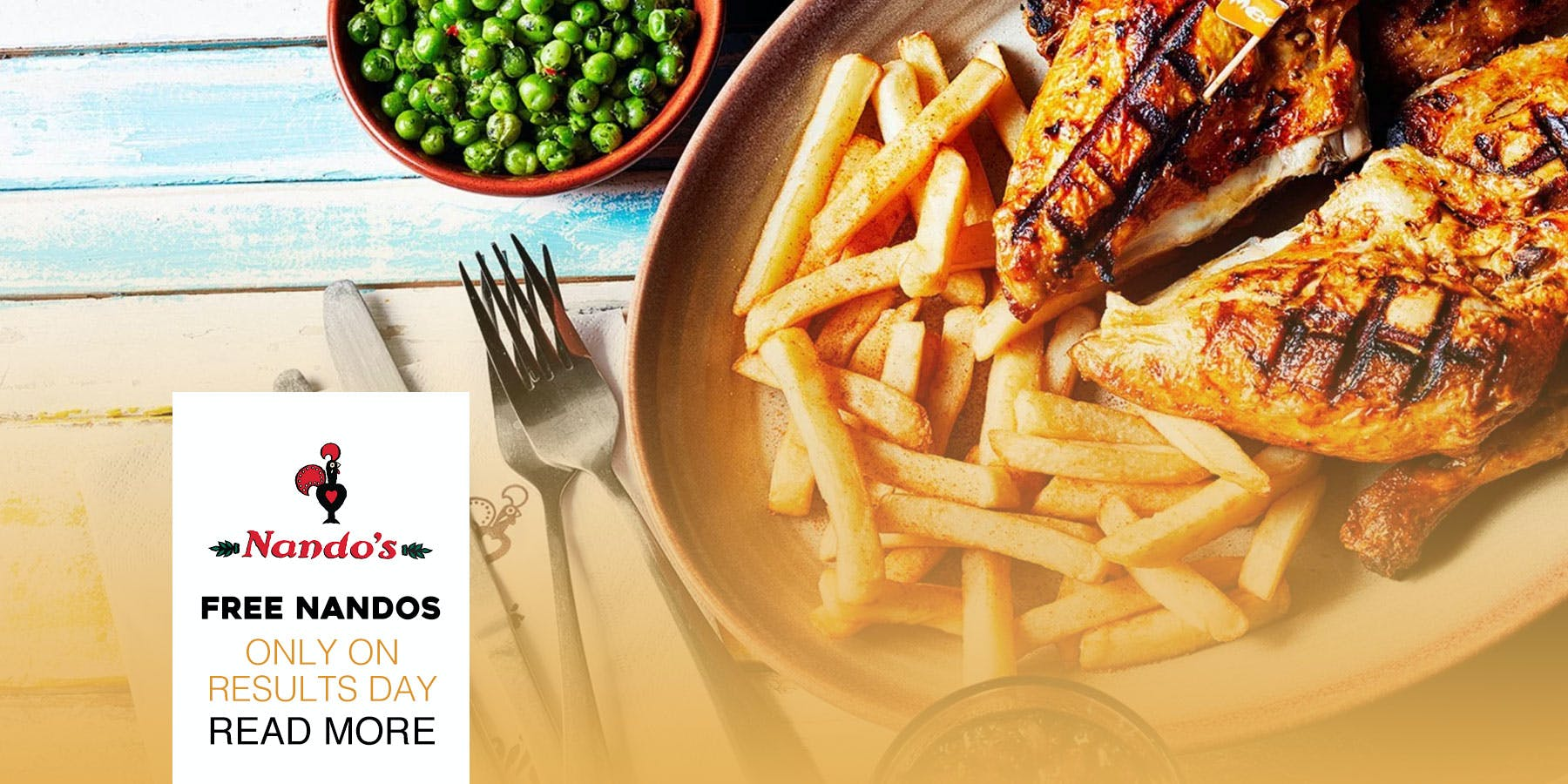 Nando's is giving out FREE food to A-Level students
