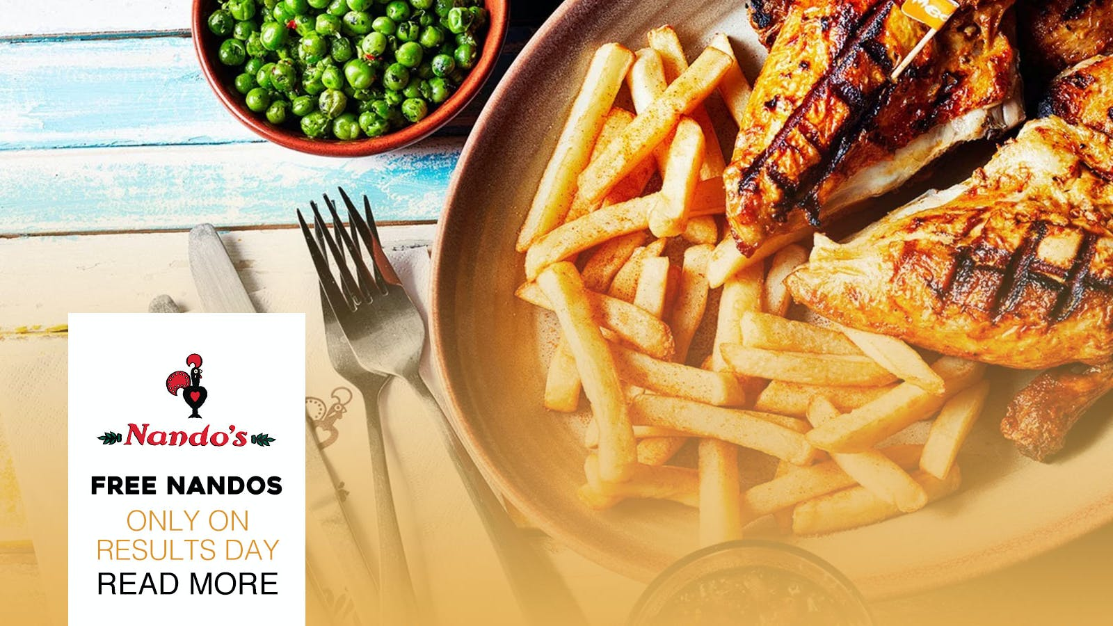 Nando's is giving out FREE food to A-Level students going to Southampton