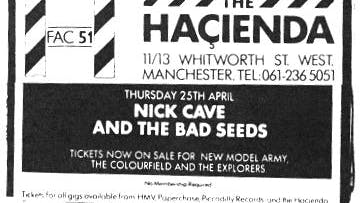 NIC CAVE & THE BAD SEEDS / SONIC YOUTH – 25_04_85