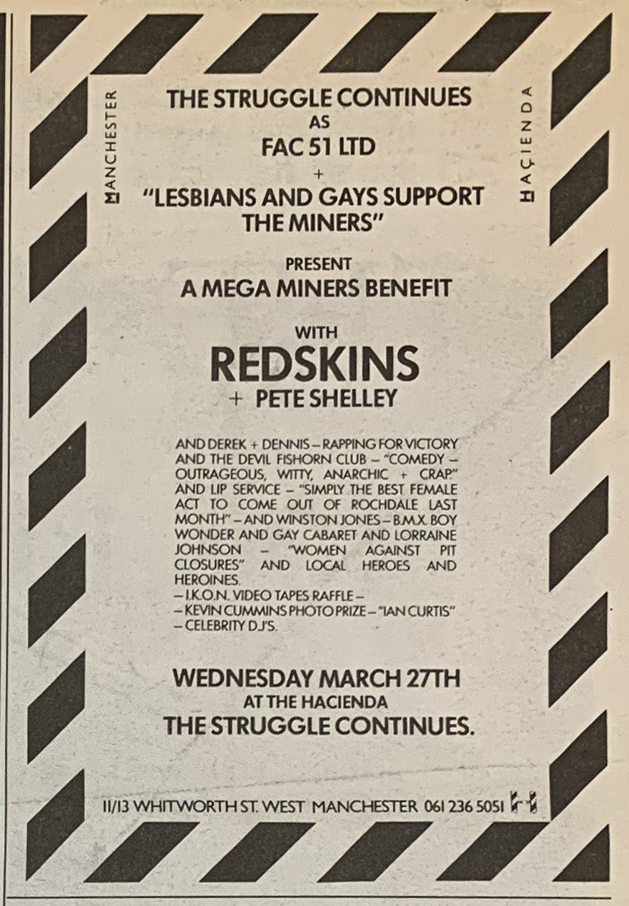 LESBIAN & GAYS SUPPORT THE MINERS – 27_03_85