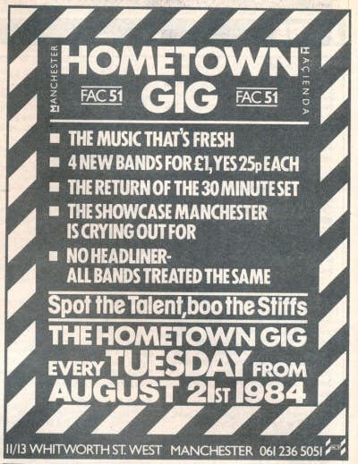 THE HOMETOWN GIG – 21_08_84