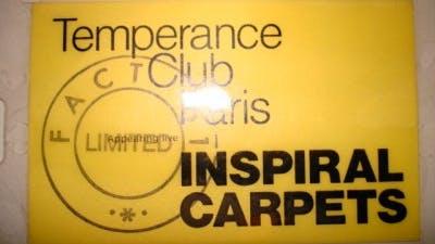 TEMPERANCE CLUB PARIS INSPIRAL CARPETS 30_11_89