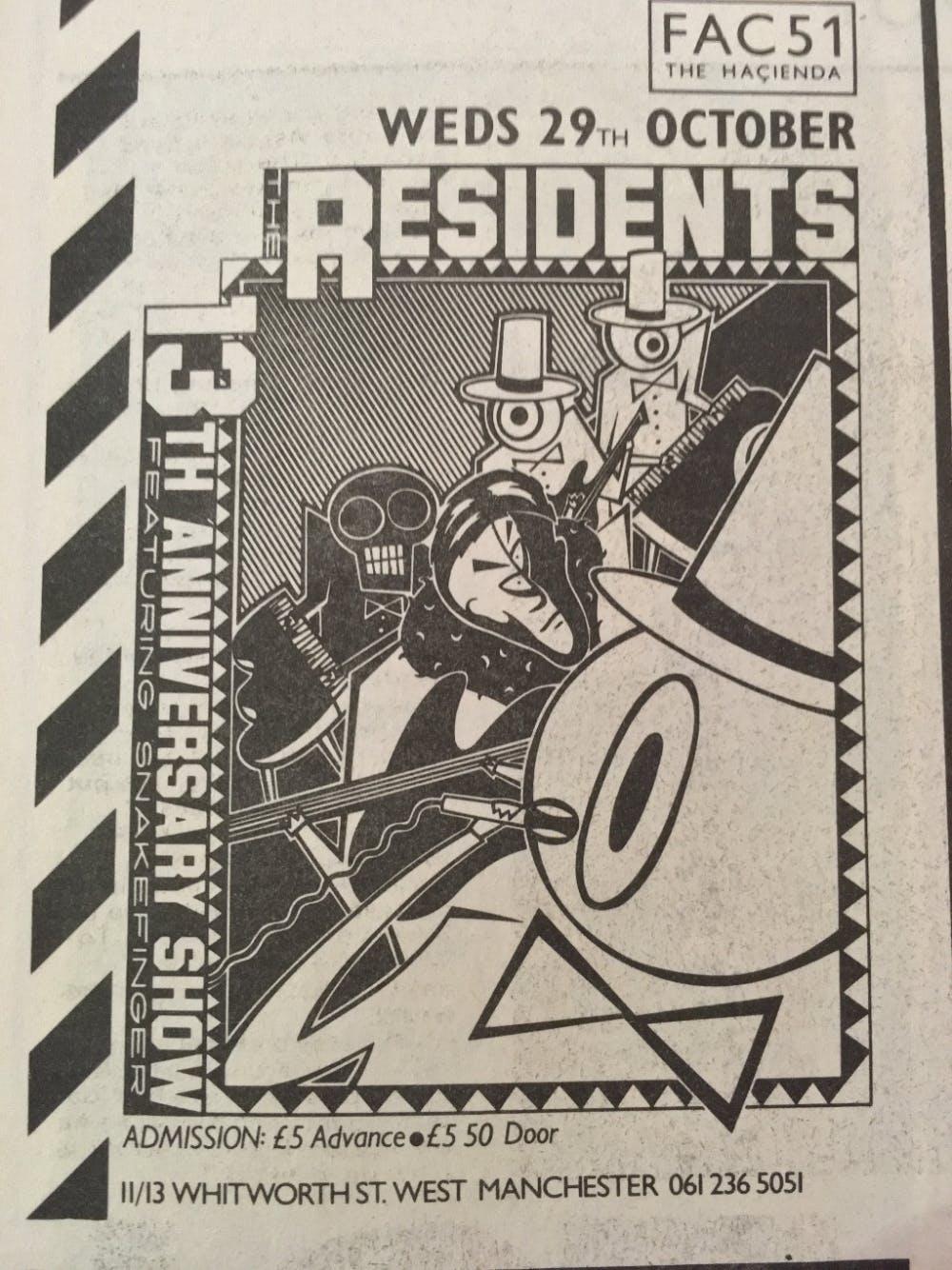 RESIDENTS 29TH ANNIV SHOW 29_10_86