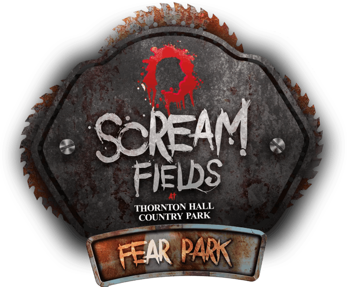 Scream Fields Fear Park Logo