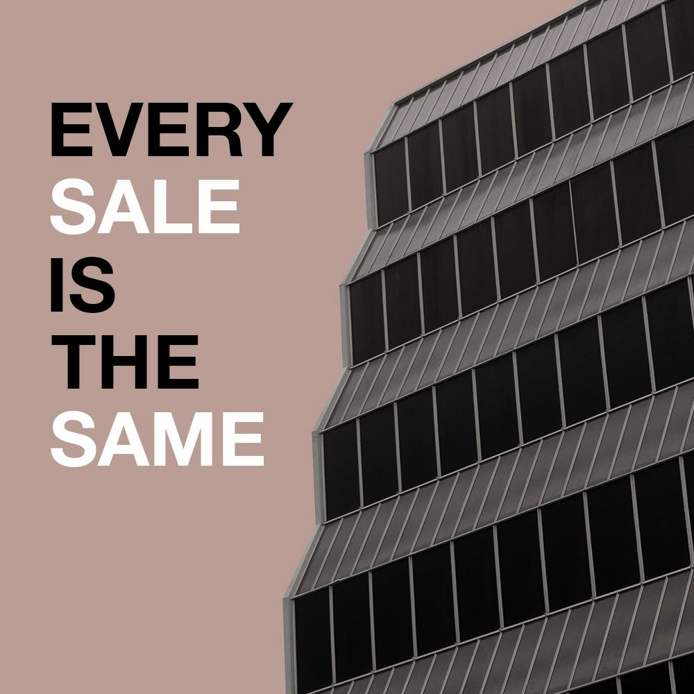 "New single… ""Every Sale is the Same"" out September"