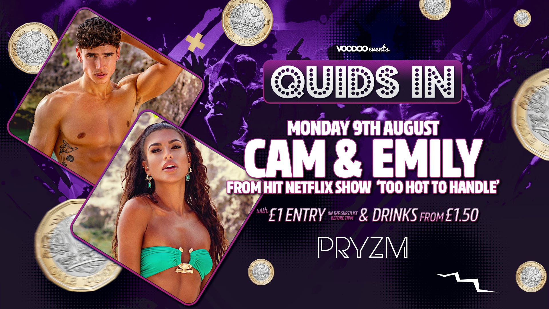 Quids In Presents CAM & EMILY from TOO HOT TO HANDLE!