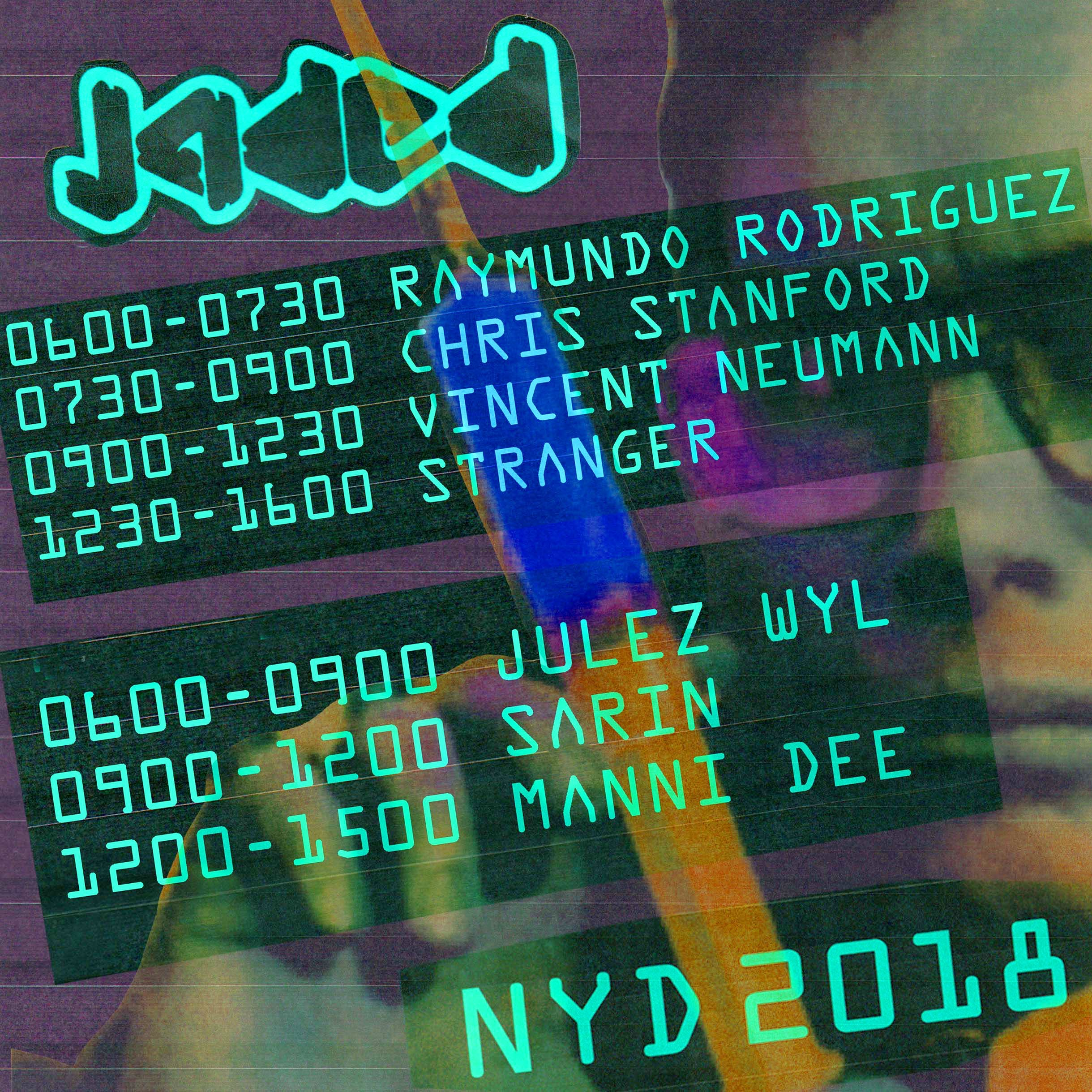 Jaded NYD 2018 Timetable is out.