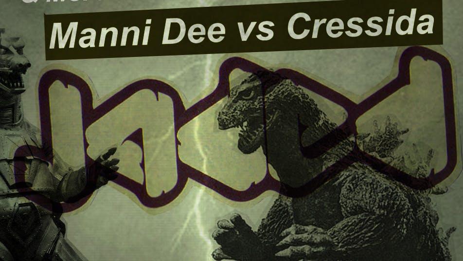 Warning: Manni Dee vs Cressida, May Bank Holiday Carnage.