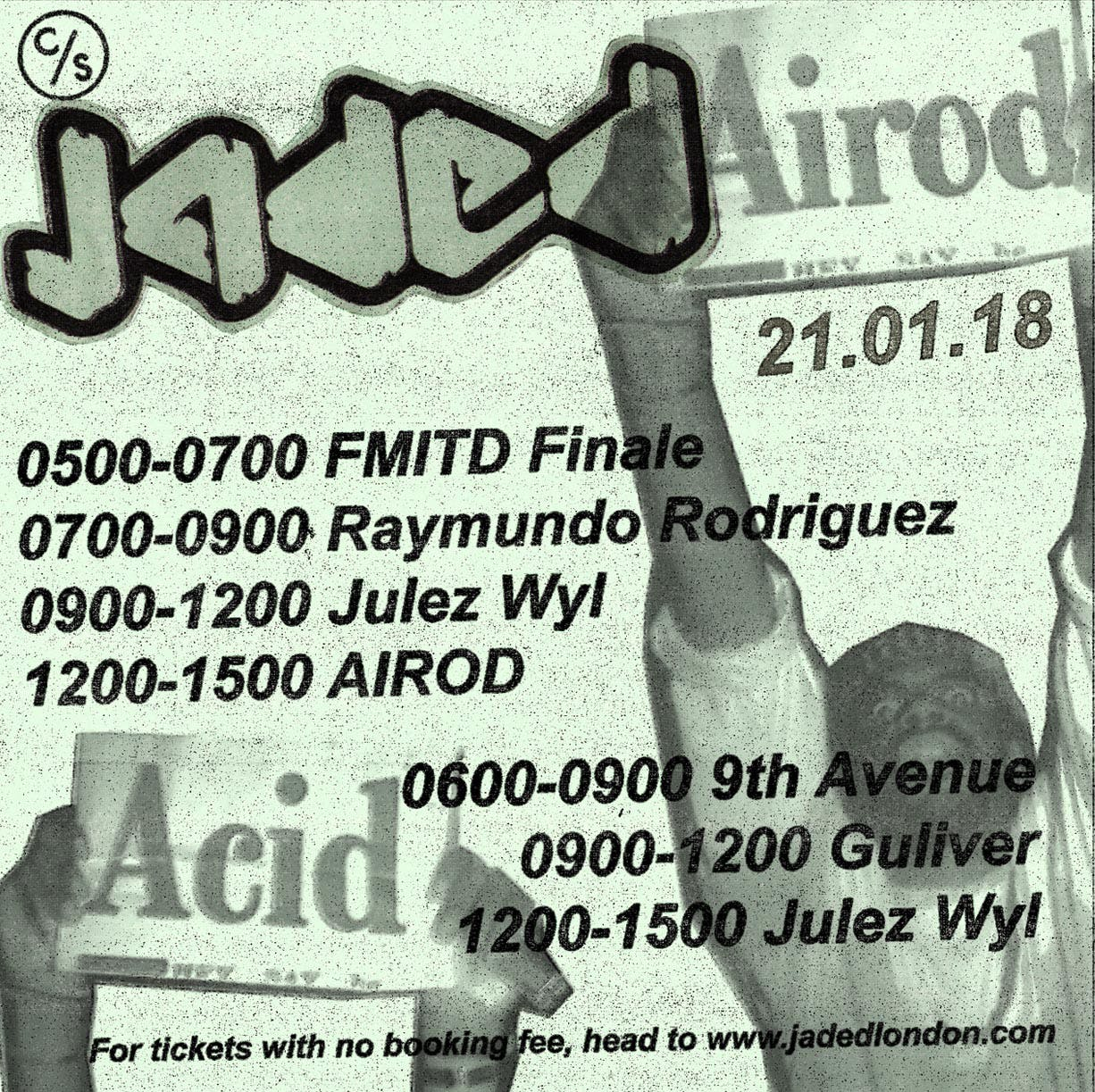 Times for Sunday's Jaded with AIROD are out.