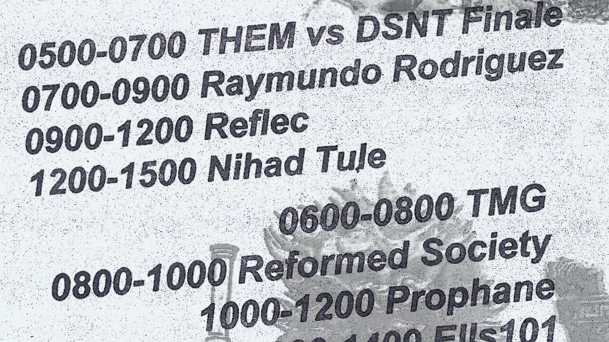 Preview: Nihad Tule & Reflec this Sunday.