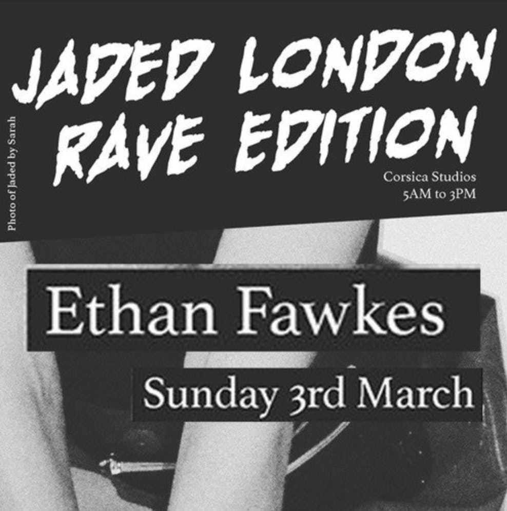 Recording: Listen to Ethan Fawkes' Rave Set.