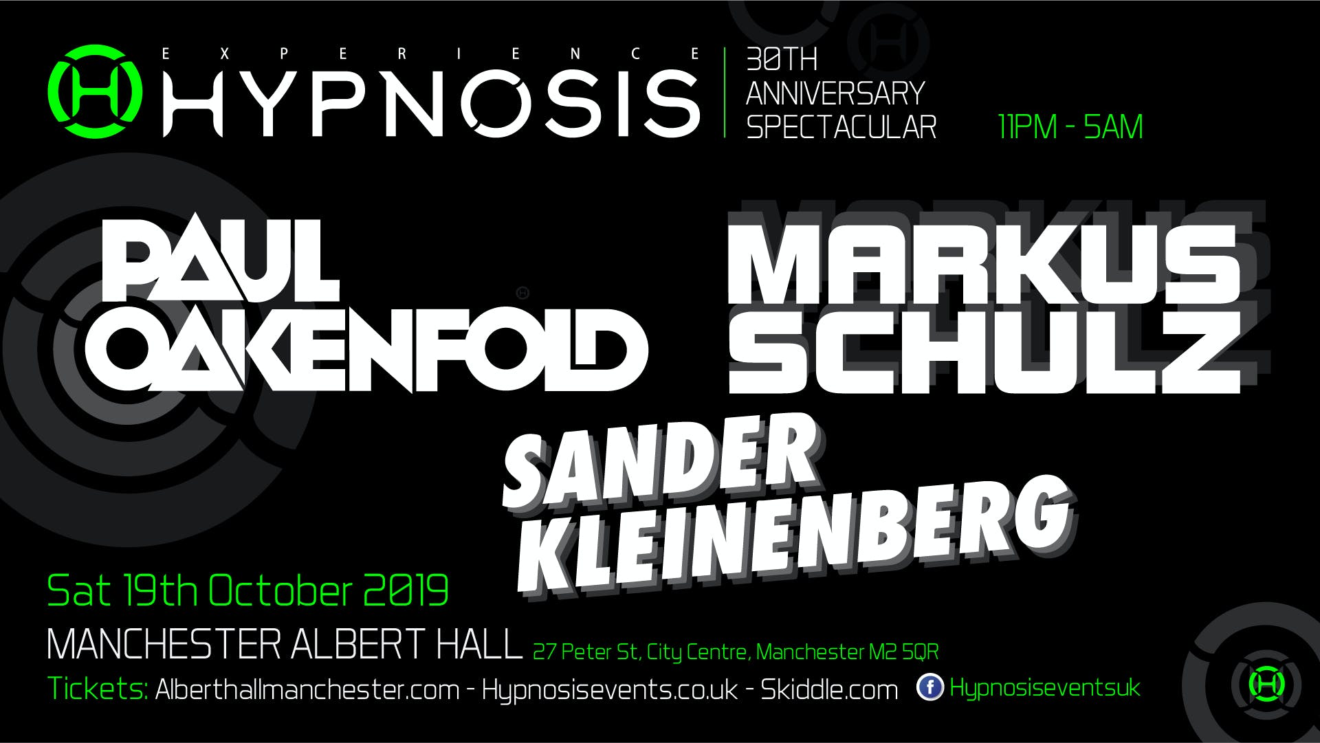 Postponed: Hypnosis 30th Anniversary: Paul Oakenfold And Markus Schulz