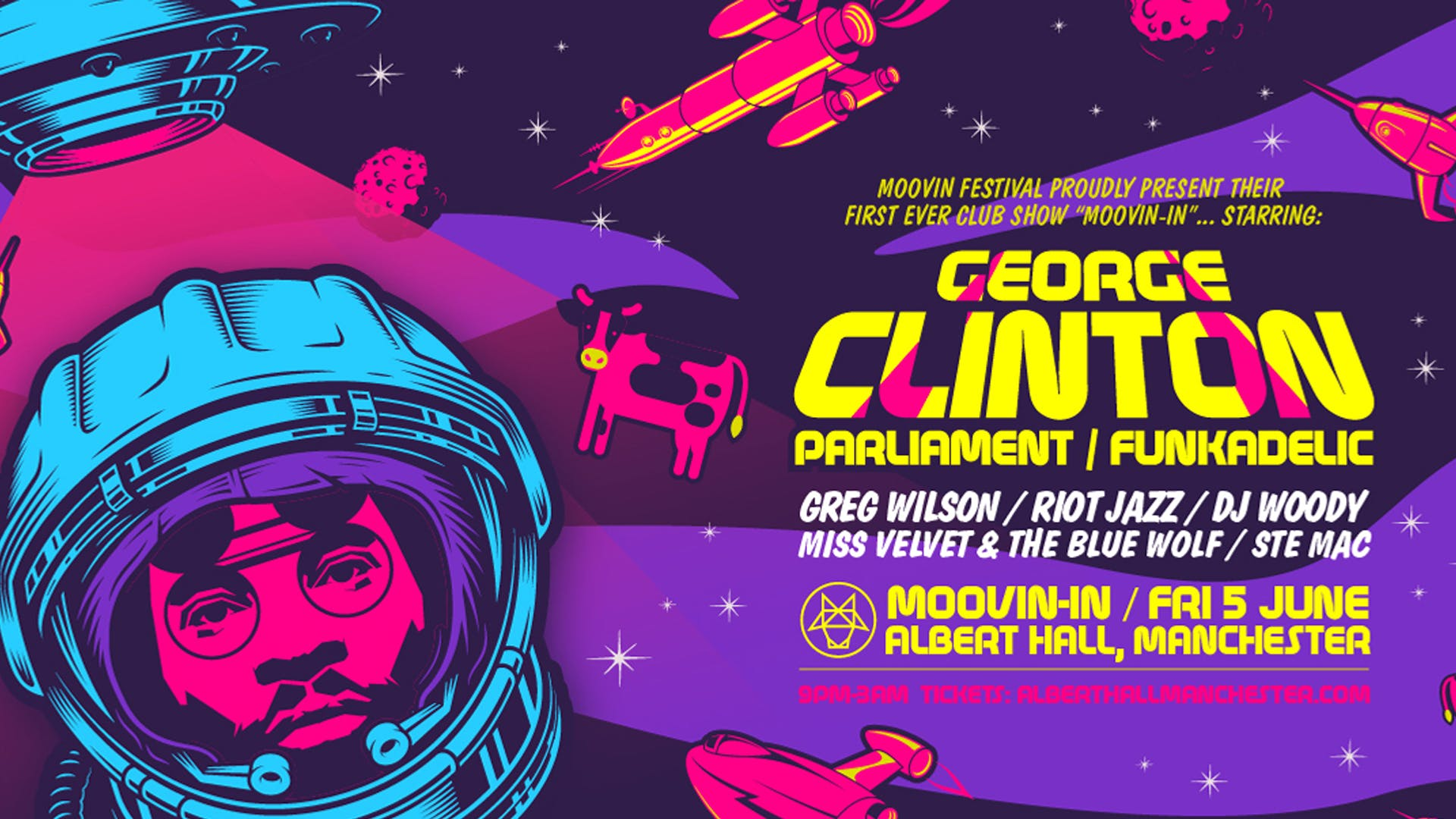 Rescheduled – Moovin In Starring: George Clinton