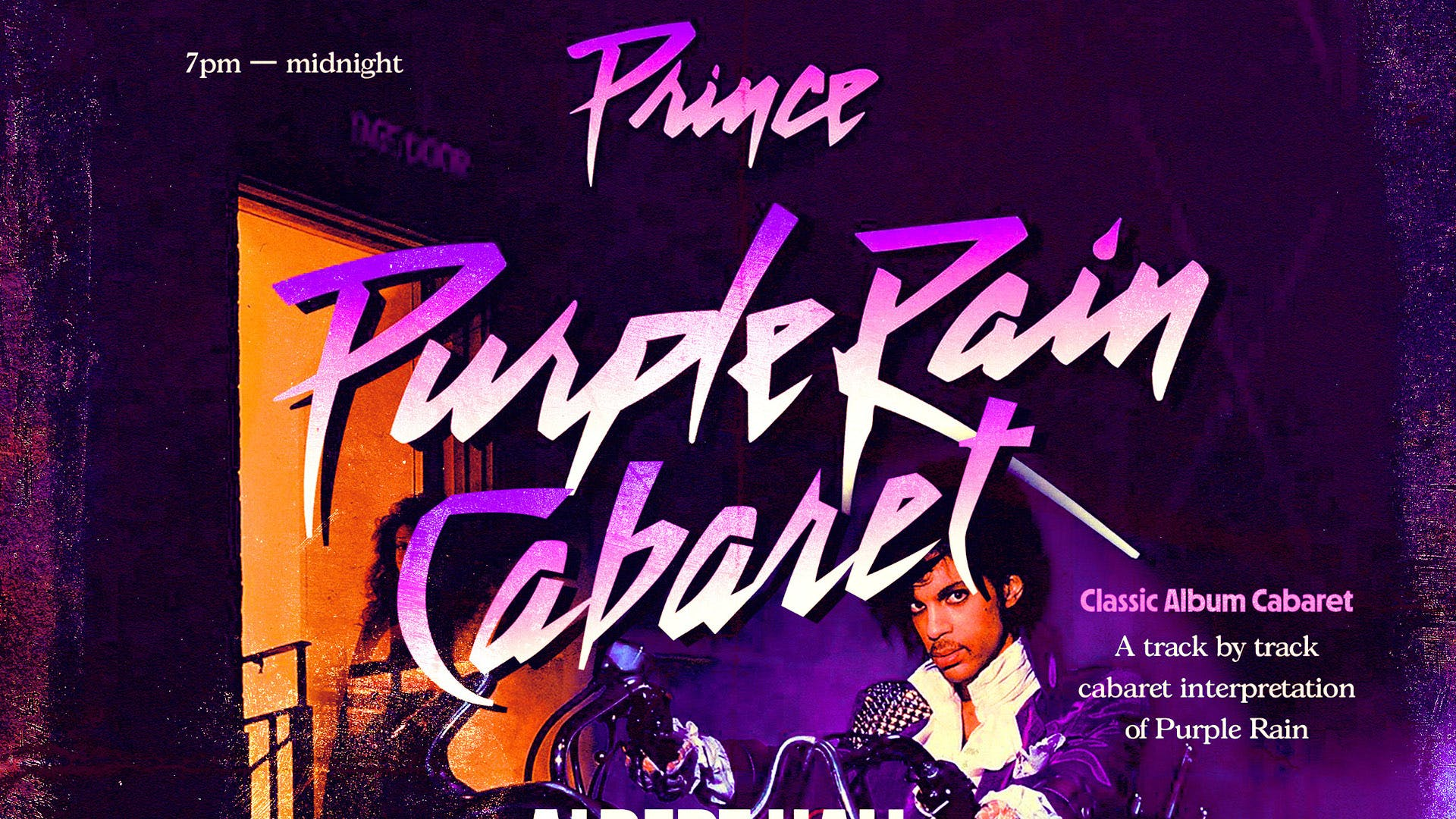 Purple Rain Cabaret (Seated And Socially Distanced)