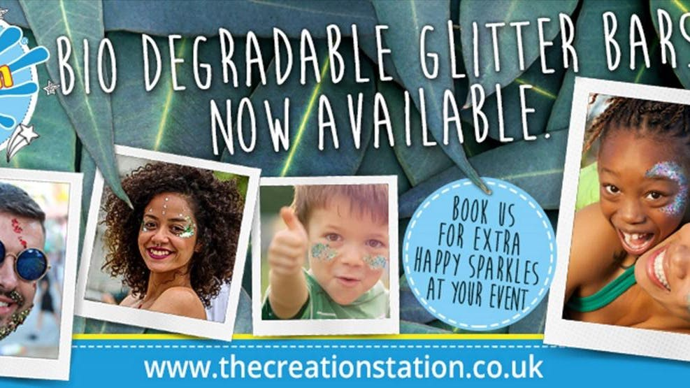 The creation station joins Raver Tots with bio degradable glitter and award winning play doh  workshops!