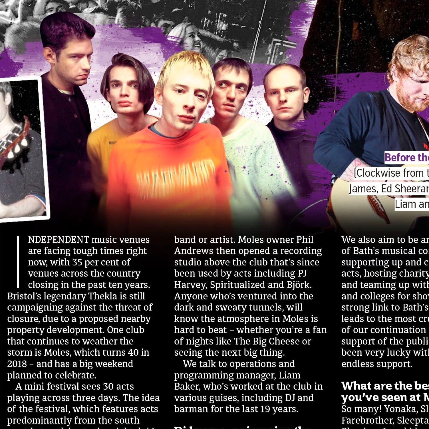 Moles featured in METRO magazine
