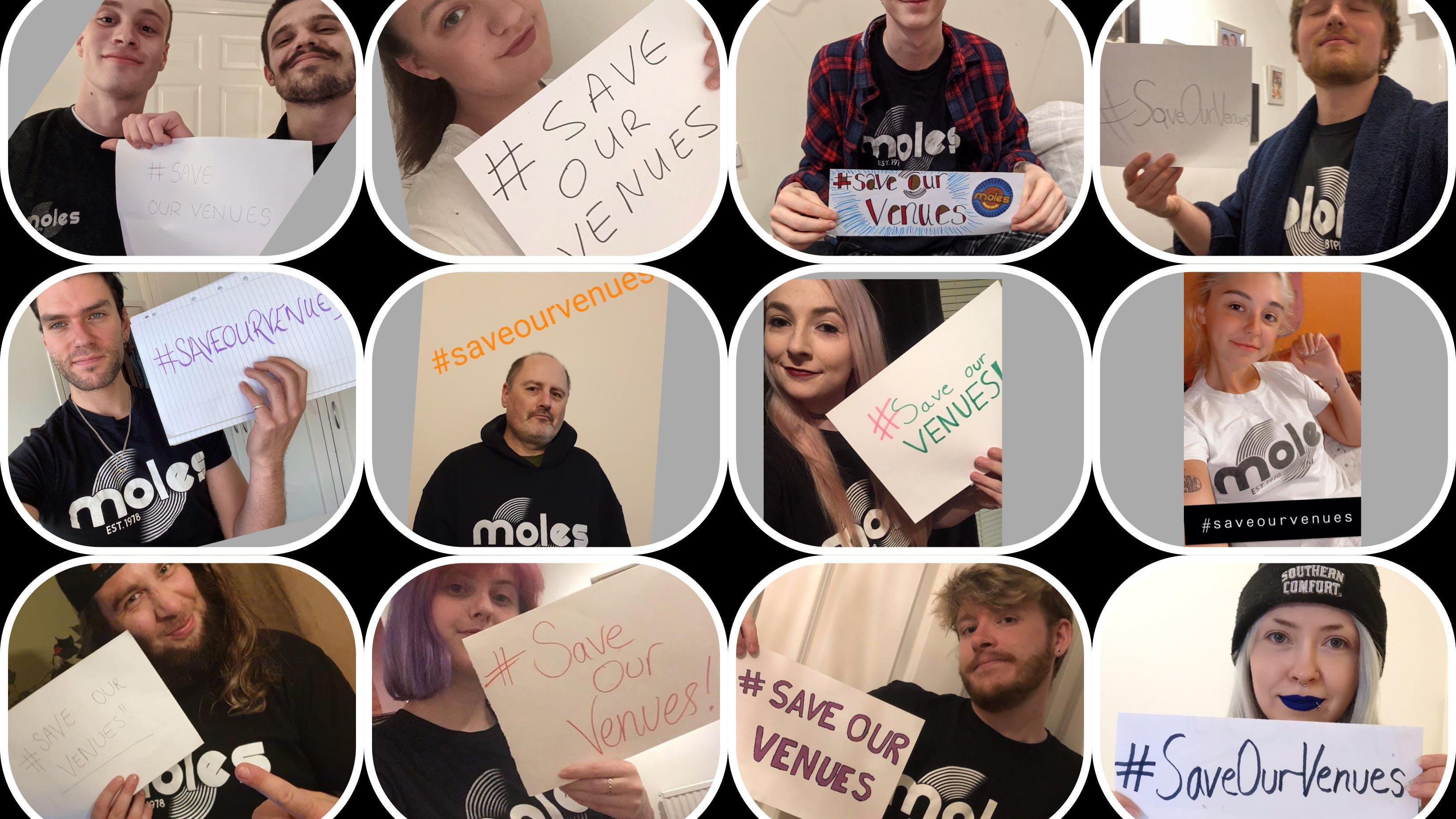 #SaveOurVenues with Moles & Music Venue Trust! Please read.