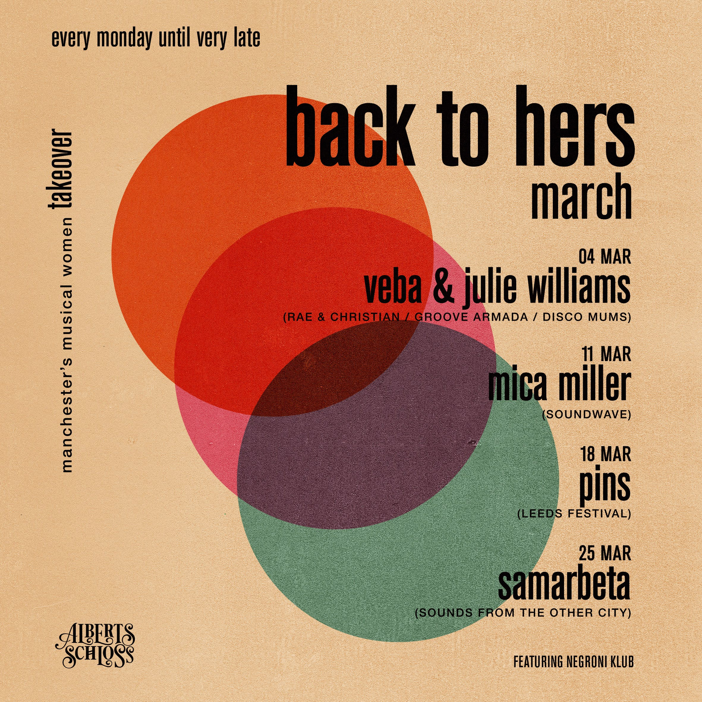 BACK TO HERS MARCH // MCR'S MUSICAL WOMEN