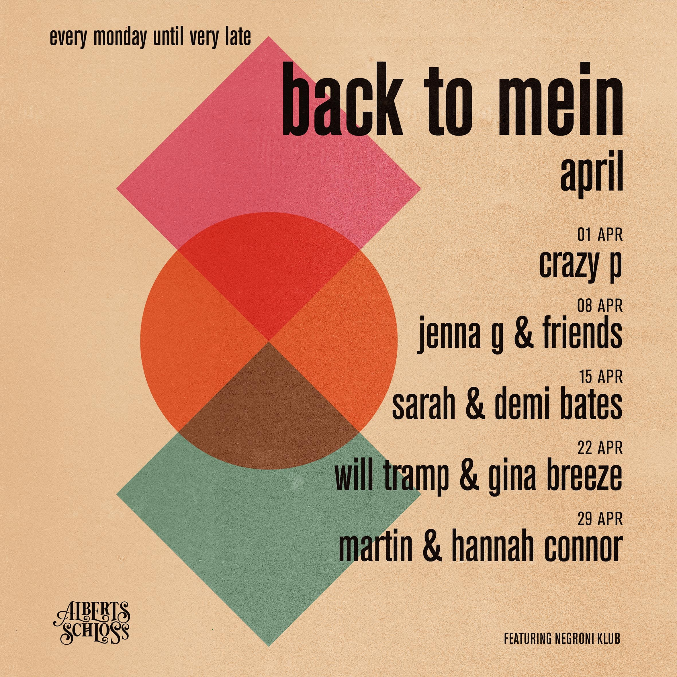 BACK TO MEIN // APRIL