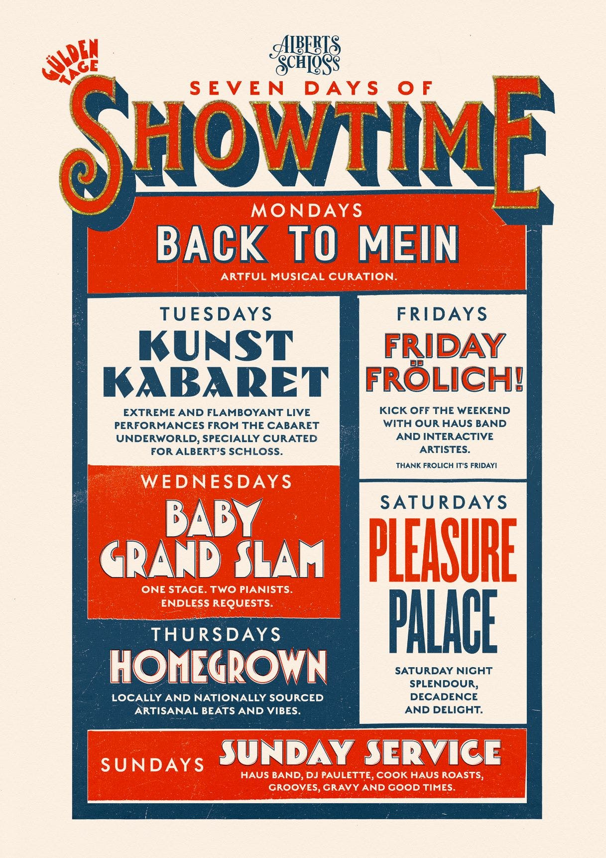 SEVEN DAYS OF SHOWTIME