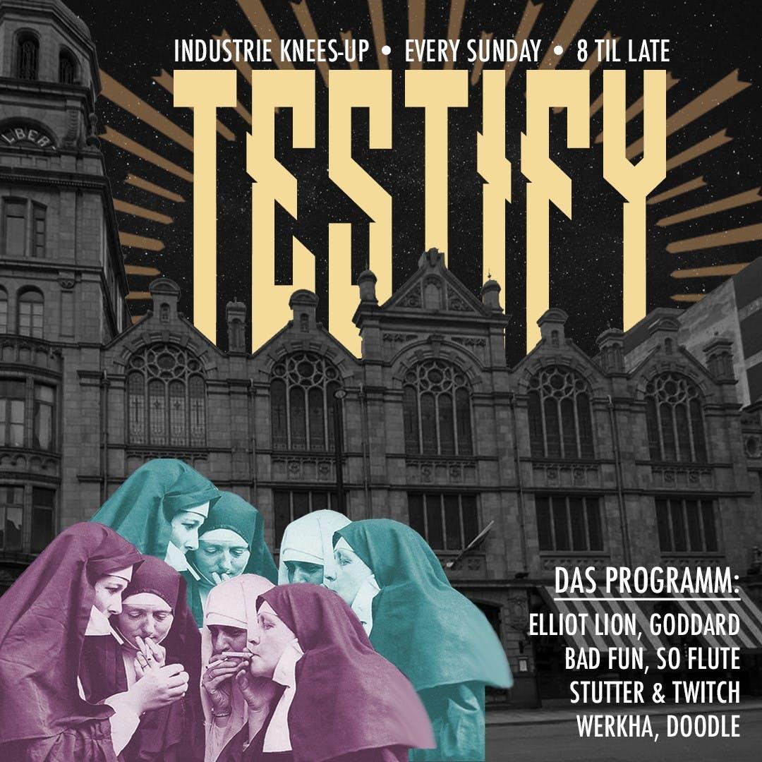 NEW TO SUNDAYS; TESTIFY