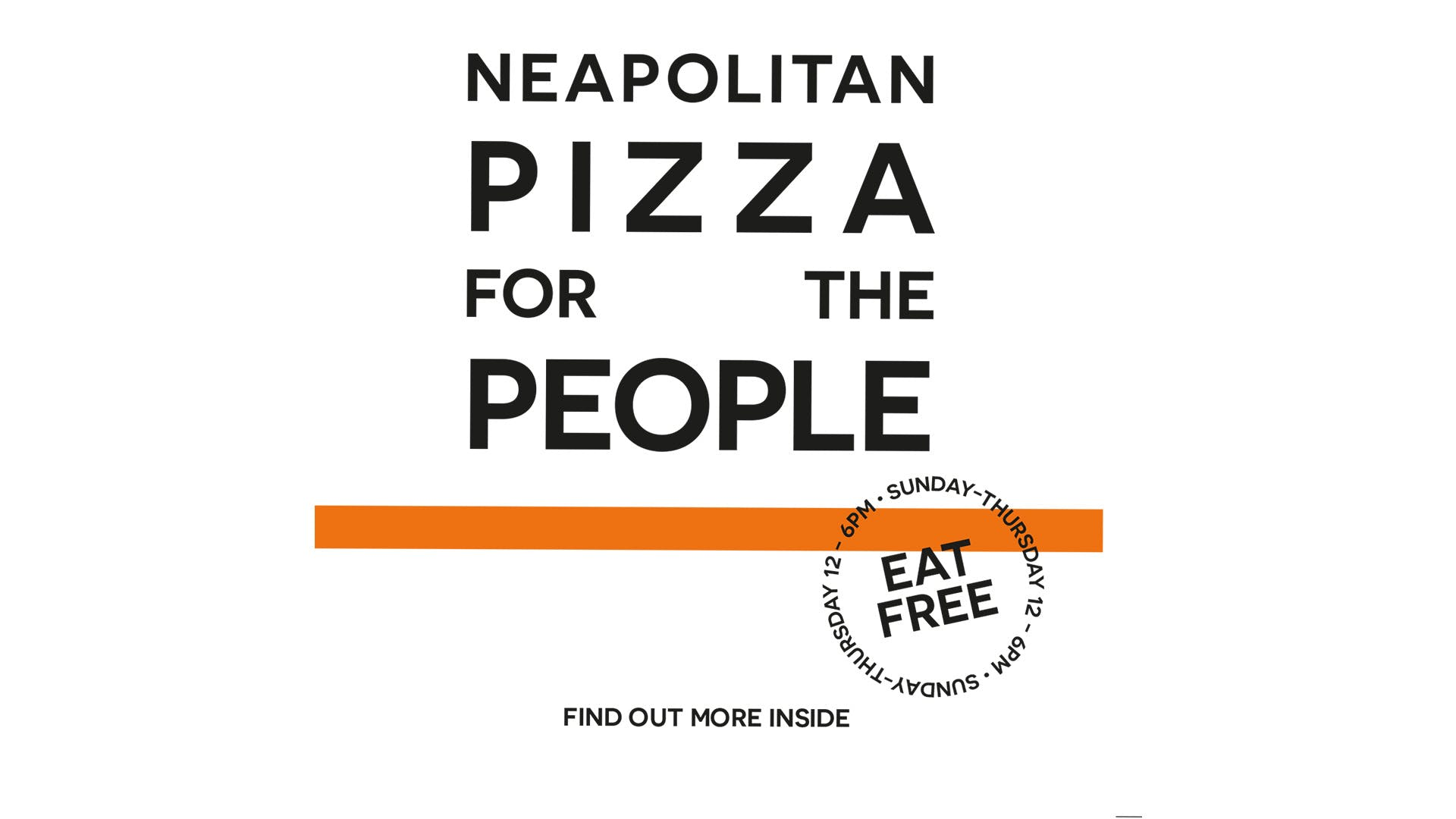 PIZZA FOR THE PEOPLE – NHS