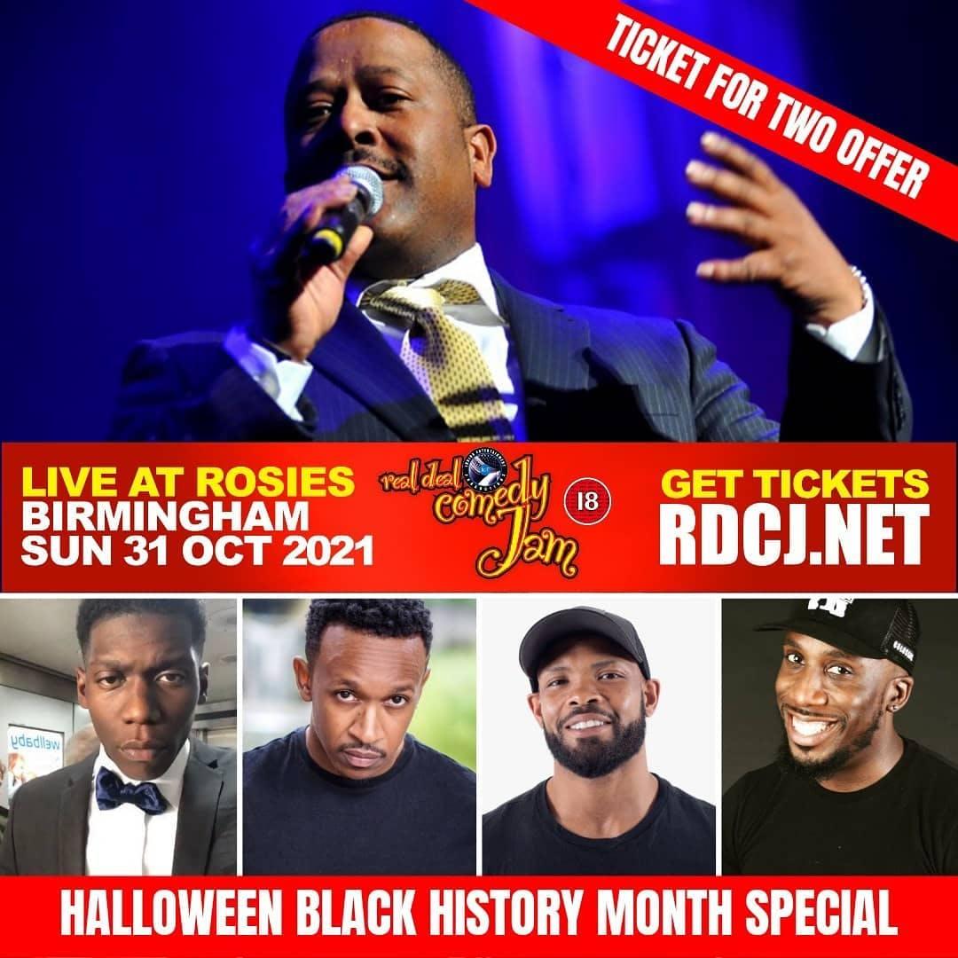 Birmingham Real Deal Comedy Jam 2021 - October