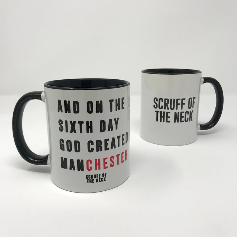 God Created Manchester Mug On Sale Now