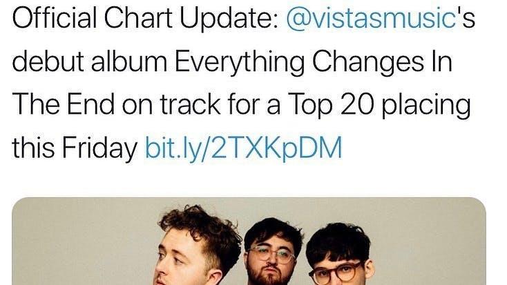 VISTAS ALBUM CHART SUCCESS
